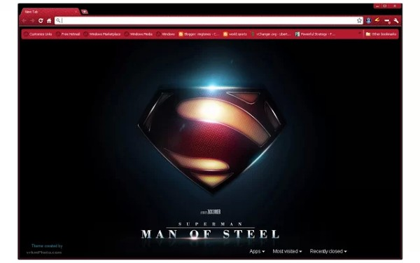 google-chrome-tema-superman