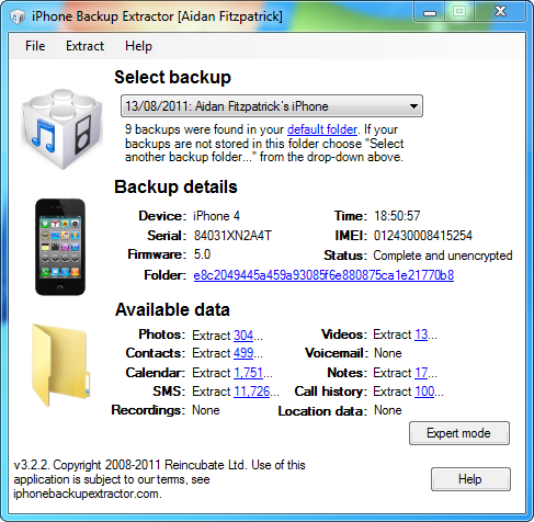 apple iphone backup